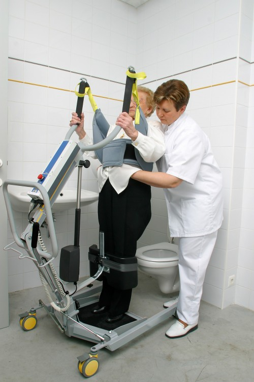 Active hoist Quickly lifts to a standing position - ideal for toileting
