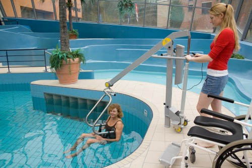 Handi-Move - Mobile pool lift  Move directly from your wheelchair to the pool