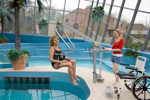 Handi-Move - Mobile pool lift  , SureHands® Body Support