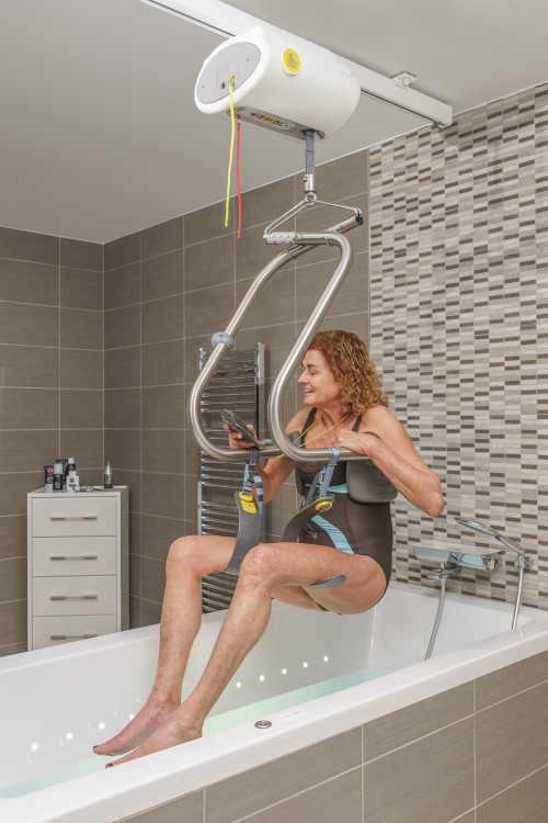Into the bath with the SureHands® Body Support