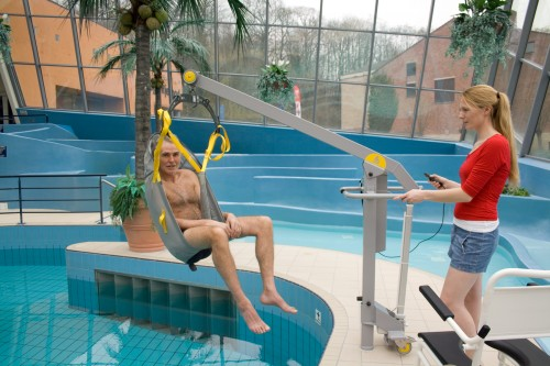 Handi-Move -  - Great mobility - Classic spreader bar , Mobile pool lift