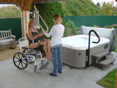 Handi-Move - Other transfer solutions - Jacuzzis now also accessible for people with reduced mobility - Wall lift