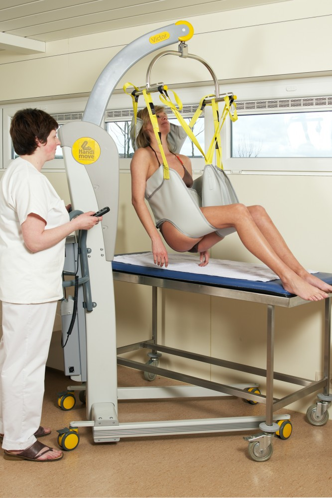 Mobile hoist 2600 (Victor) , Bathing sling , Bathing sling with head support